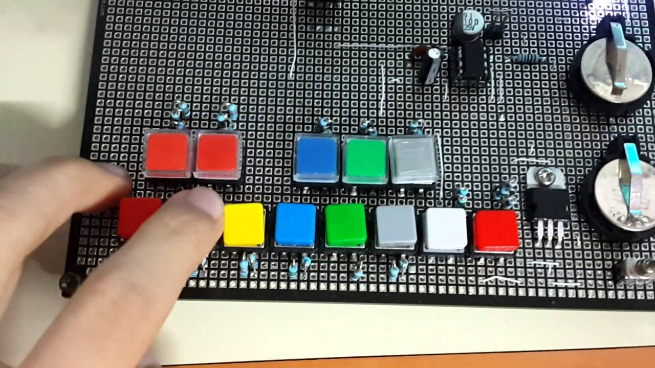 555 Timer Piano (1 octave) - YouTube