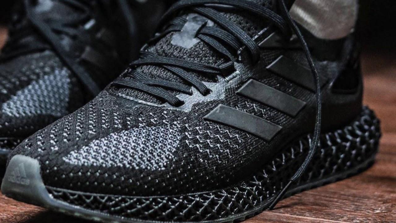 "adidas 4D Run 1 0 ""Triple Black - YouTube"