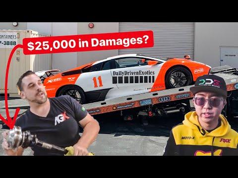 ALEX CHOI DISCOVERS $25,000 HIDDEN DAMAGES ON DDE LAMBORGHINI!