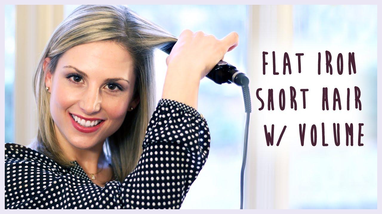 Flat Iron Short Hair W/ Volume