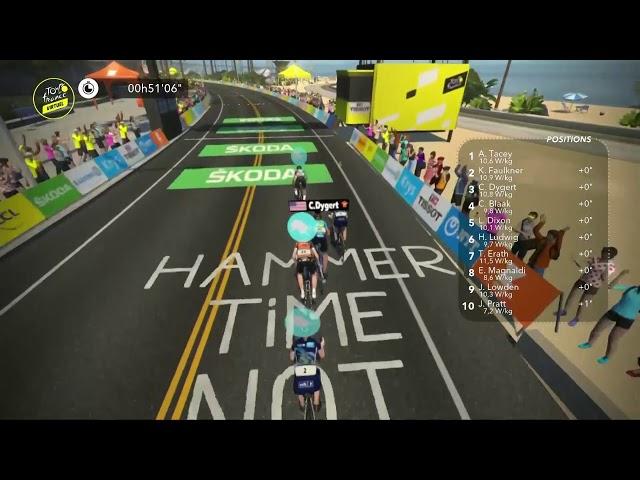 Stage 1 Virtual Tour de France Highlights