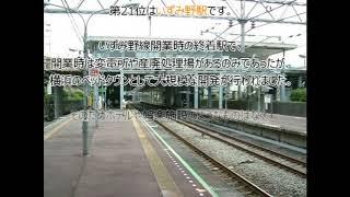 【相鉄線】2018年乗降客数ワーストランキング!(#021)