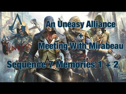 AC Unity Sequence 7 Memory 1 & 2 - Meeting With Mirabeau   AC Unity