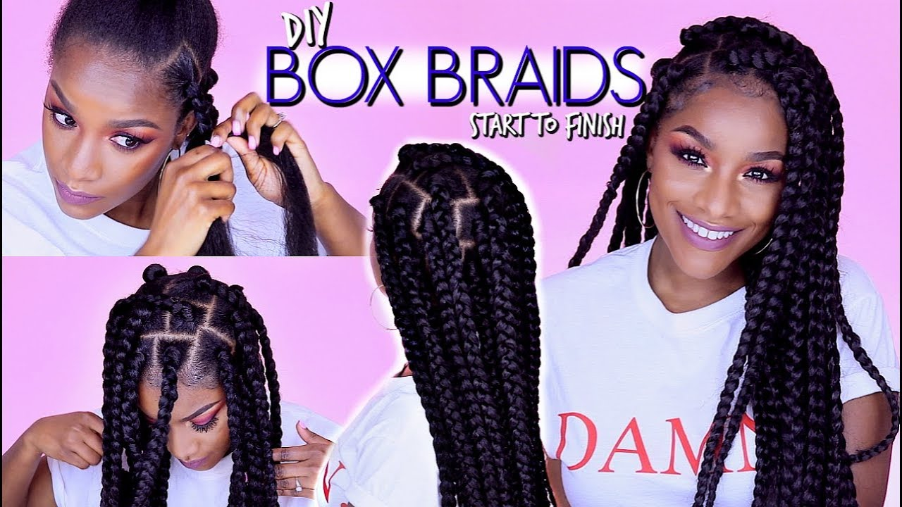 How To Box Braids Rubber Band Method Won T Pull Your