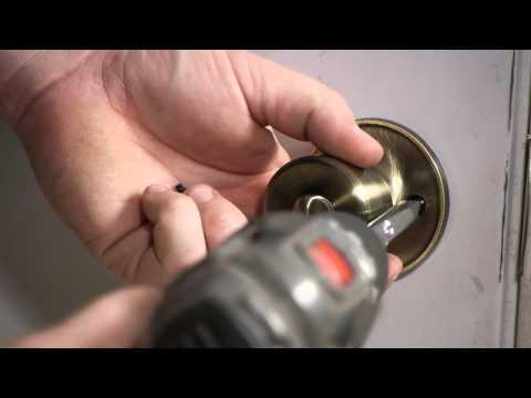 How to Remove a Door Lever from a Locked Door : Door Installation & Repairs