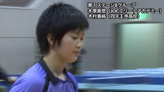 【ダイジェスト】世界ジュニア 女子日本代表選考会 第1ステージ 木原美悠vs木村香純