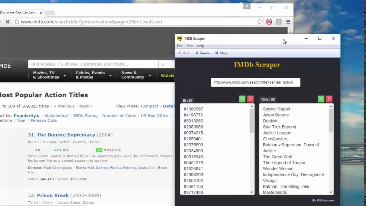 IMDB Scraper Bot - YouTube