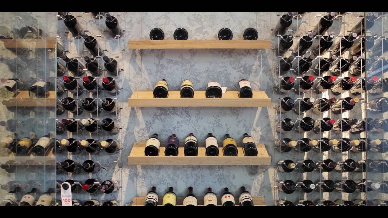 Modern Wine Cellar Featuring Cable Wine System Dining Room Design Youtube