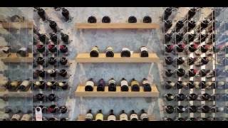 Modern Wine Cellar featuring Cable Wine System, 'Dining Room Design'