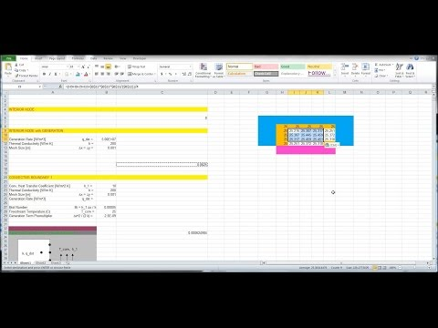 Repeat Heat Transfer L13 p1 - Heat Equation Excel Solver by