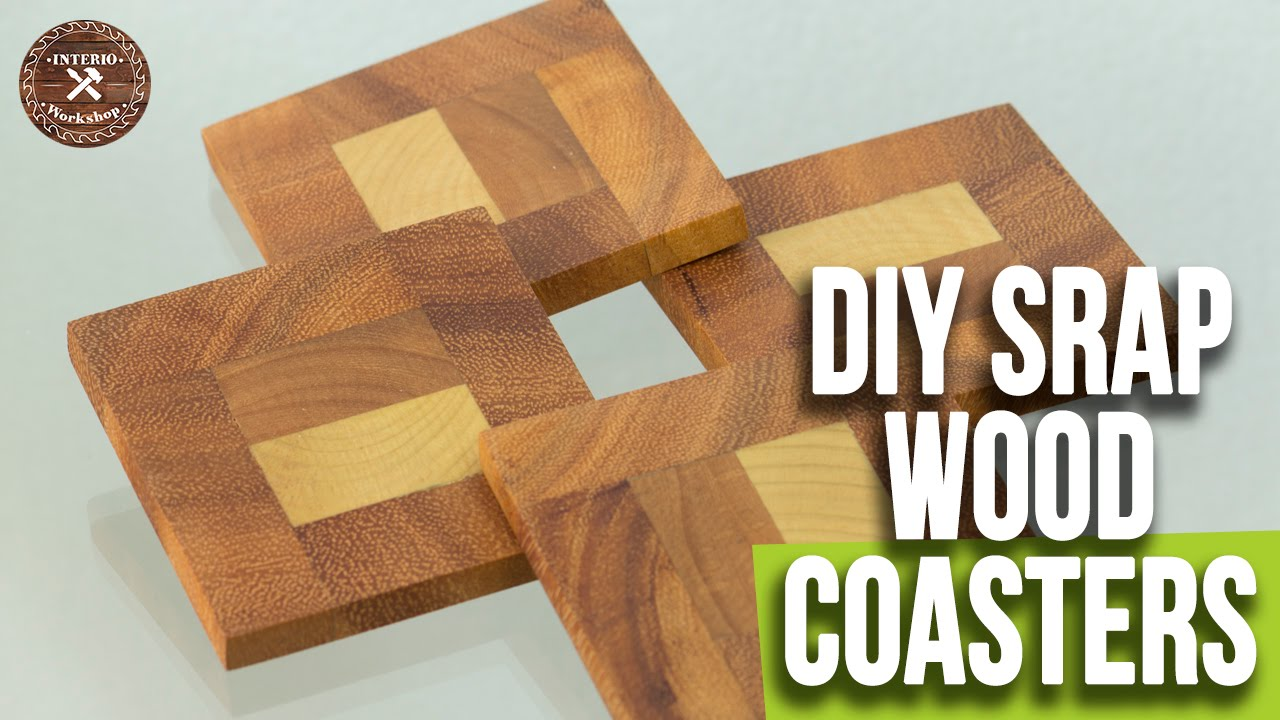 Diy Easy Wood Coasters Scrap Wood Coasters Woodworking Projects