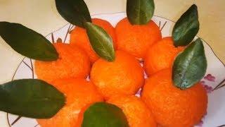 Закуска Мандарины   Салат на Новый год