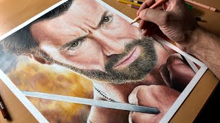Drawing Wolverine - Hugh Jackman - X-Men - Marvel - Time-lapse | Artology