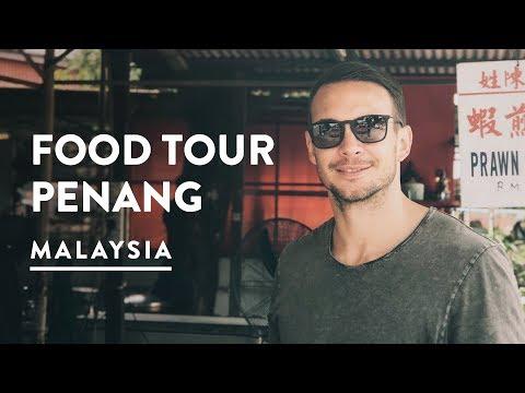 PENANG STREET FOOD TOUR MALAYSIA | Georgetown Travel Vlog 087, 2017
