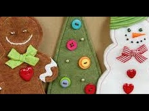 How to make felt christmas ornaments youtube - How to make felt christmas decorations ...