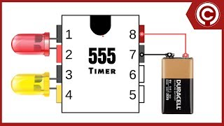 LED Chaser Circuit with 555 timer