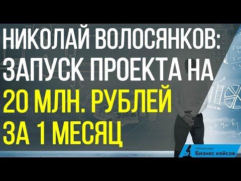 видео: Николай Волосянков | Как сделать запуск на 20 млн.рублей за 1 месяц
