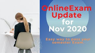 Online Diploma Exam Nov 2020 New Updates Easy way to pass the current semester.