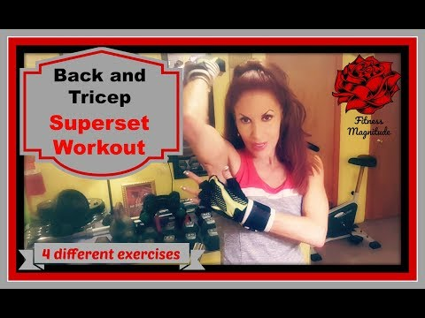 Back and Tricep SuperSet Workout! High Intensity Training.