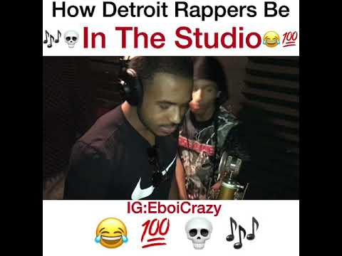 How Detroit Rappers Be In The Studio ! W/ Bandgang Javar