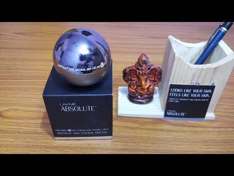 LAKME ABSOLUTE MATTREAL MOUSSE FOUNDATION REVIEW//BEST MOUSSE from YouTube · Duration:  6 minutes 33 seconds