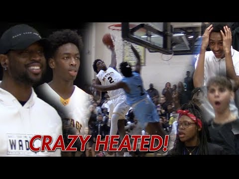 """Zaire Wade SHUTS UP """"OVERRATED"""" Chants in HEATED GAME! Dwyane Wade HYPED!"""