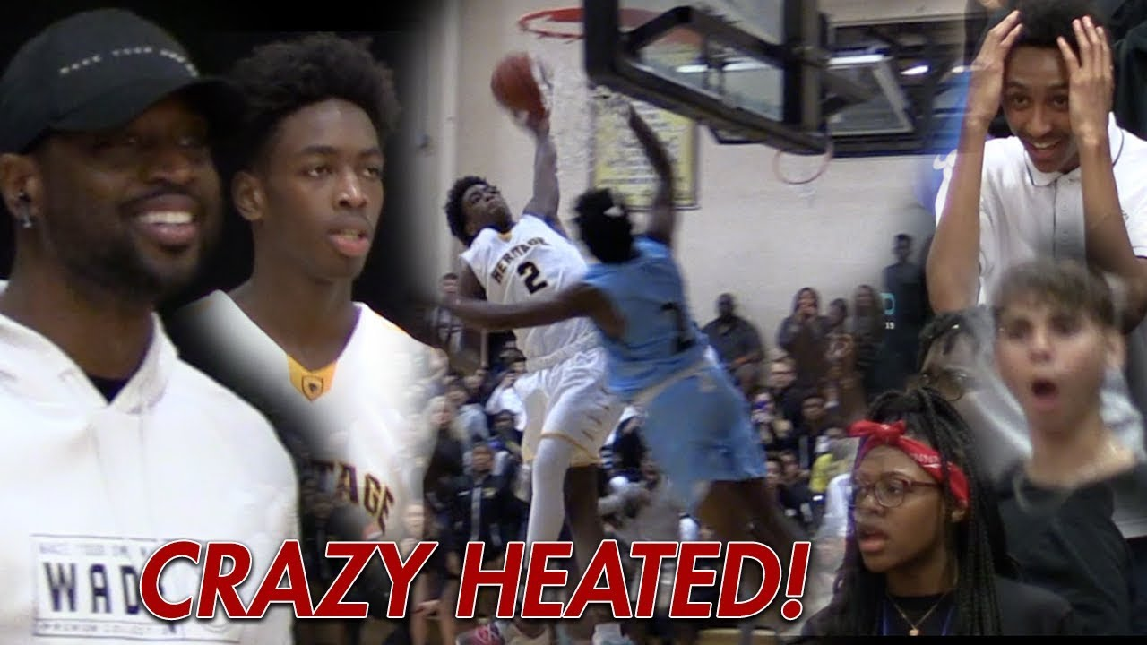 """Zaire Wade Shuts Up """"OVERRATED"""" Chants In Heated Game"""