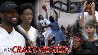 "Zaire Wade SHUTS UP ""OVERRATED"" Chants in HEATED GAME! Dwyane Wade HYPED!"