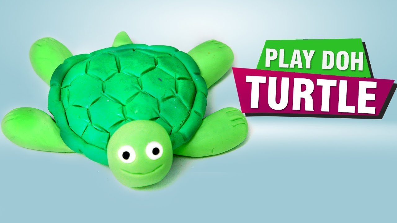 How To Make Play Doh Turtle Animals Craft Ideas Making Of Play Doh Turtle For Kids Easy Diy