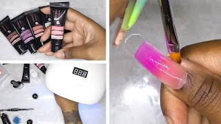 DIY Testing a Polygel Nail Kit from Amazon Prime - Modelones Polygel Kit