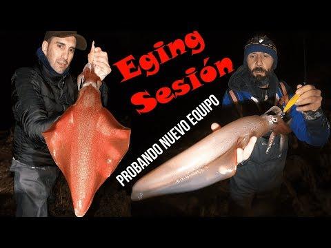 Eging Sesión, Probando Equipó Nuevo + Pesca Del Calamar🦑