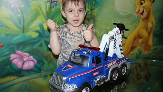 Toy Truck Videos for Children  Toy Tow Truck Unboxing and Review at Bogdan`s Show