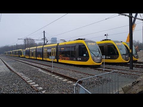 Nieuwe CAF Urbos 100 tram en Simulator rit Uithoflijn U-OV Utrecht