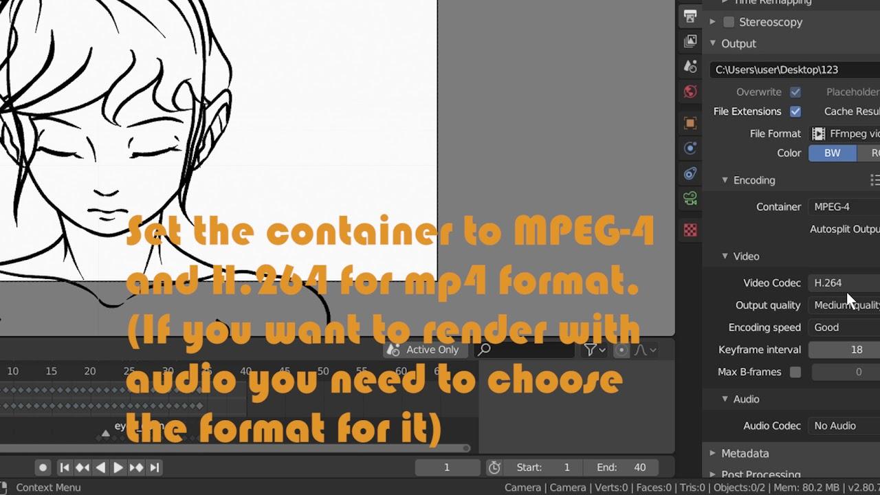 Render Greasepencil Animation In Blender 2 8