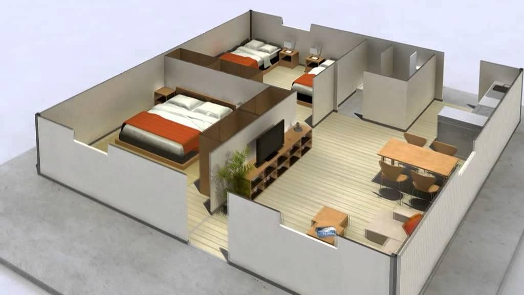 Vivienda prefabricada modulos arco construcciones modualares youtube - Modulos de casas ...