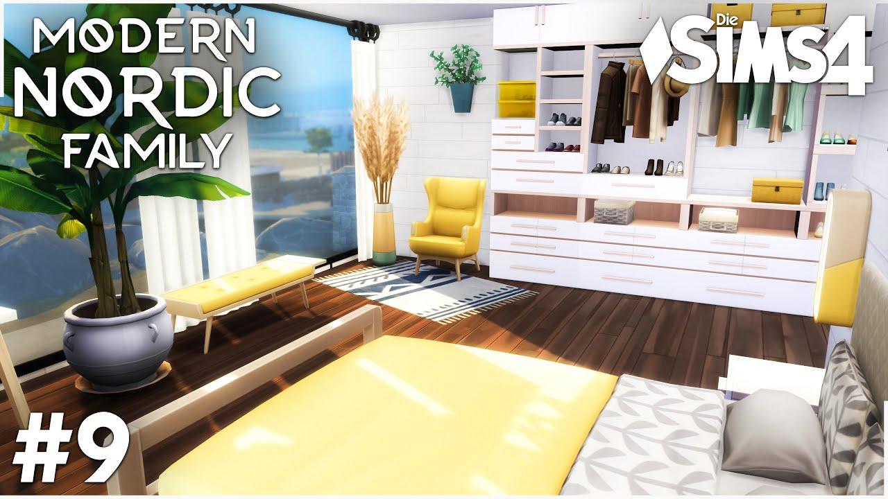 Schlafzimmer   Modern Nordic Family Haus bauen 21   Die Sims 21 Let's Build  mit Tipps