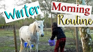 WINTER Weekend MORNING ROUTINE ♥ Farm Edition