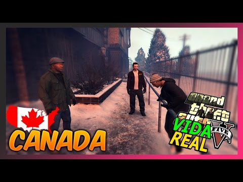GTA V : VIDA REAL ONLINE - VIAGEM COM OS AMIGOS PRO CANADA #09