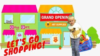 🛒 Let's go shopping song for baby with Sofi | Simple Songs for Kids at the supermarket