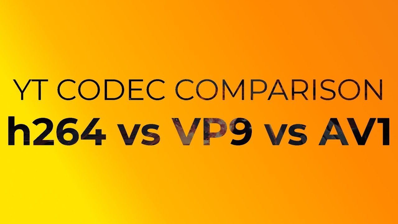 Comparison of Youtube video codecs [h264, VP9, AV1]