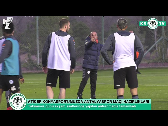 Atiker Konyaspor'umuz taktik çalıştı