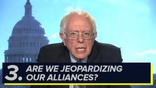 Bernie Explains Questions around Trump