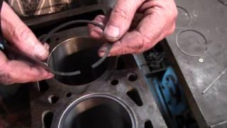 5-бөлім Lada Күрделі жөндеу ВАЗ 2107 (1600) Дайындау поршенді сақиналар орнату