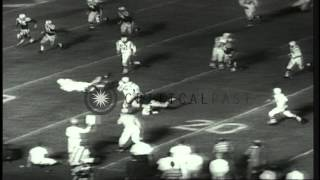 NFL Champion Baltimore Colts win,32-7, in 27th College All-Star Football Classic ...HD Stock Footage