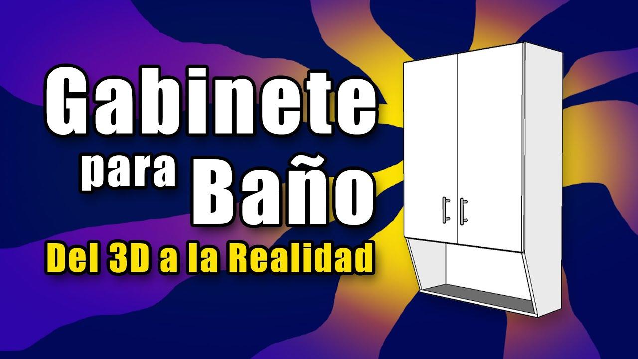 GABINETE PARA BAÑO - MUEBLE PARA BAÑO - Sobre WC - Gabinete sobre poceta - Muebles de MELAMINA - DIY