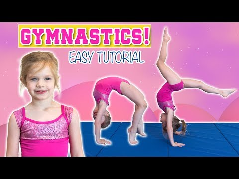 EASY GYMNASTICS TUTORIAL TAUGHT BY 4-YEAR-OLD OLIVIA | BACKBEND, FRONT LIMBER, BACK WALKOVER