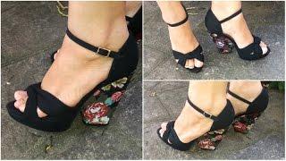 Como Forrar Sapatos e Sandálias - Muito Fácil!
