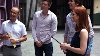 Harry Potter Cast Experiences the Magic Windows in Diagon Alley
