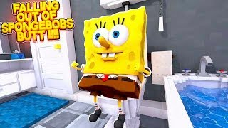 Falling out of... SPONGEBOB'S BUTT | Little Carly Roblox.