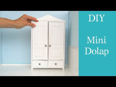 Mini Dolap yapımı / DIY Barbie dolap /Szafa dla Barbie-jak zrobić/Dollhouse Wardrobe /Doll furniture